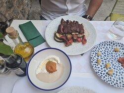 Rib-eye steak tagliatta