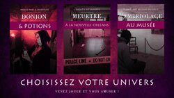 3 univers vous attendent !
