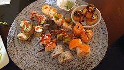 Free Style Sushi Fusão. Algumas combinações muito bem conseguidas.