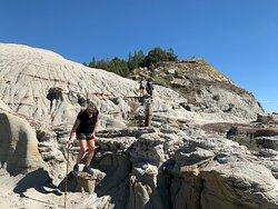Hiking the badland ridge