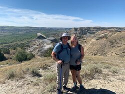 My wife and I on the trail
