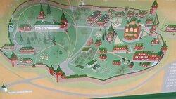 Beskrivning av klosterområdet.