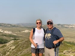 My wife and I at the top