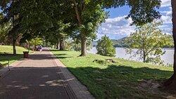 Nice walking trail along river.