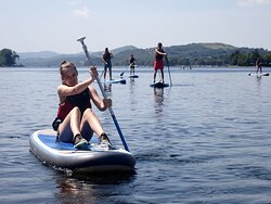 Paddle boarding on Coniston water