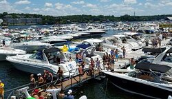 A typical weekend on the water at Lake of the Ozarks