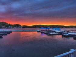 Stunning Sunset from Linn Creek Cove at Lake of the Ozarks