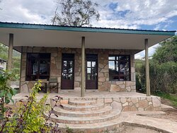 Newly built modern safari style African cottage villa