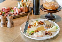 An assorted Italian cheese plate, a complement to any dish