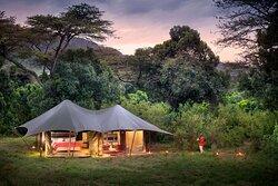 Guest tent at Angama Safari camp