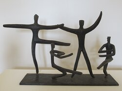 """""""Personnages (Acrobates)"""" par Mary CALLERY (1903-1977) : fer forgé"""