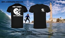 LIMITED PRODUCTION T-SHIRT , SURF MASPALOMAS SCHOOL IN THE REAL SURF MASPALOMAS ...!