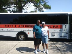 Enjoying a day touring the island of Hilton Head learning about the Gullah traditions.