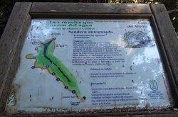 Cartel informativo de la ruta