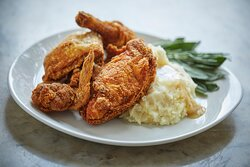 Fried Chicken at the Golden Lamb