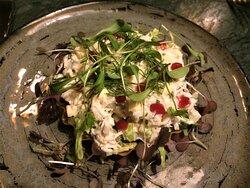 Portland Crab Tartlet, Brown Crab Mayonnaise, Gooseberry Gel