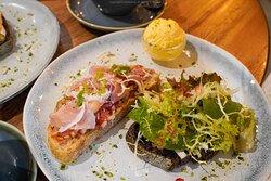 Tomato Salsa with Parma Ham Toast