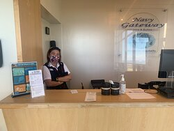 Mary Grace front Desk  Did not meet our expectations , she Exceeded them ! We had a little mishap with our room . Mary came to the rescue and made EVERYTHING right with no hassle .  She defiantly  saved the day . Im glad she was working that day