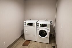 Coin operated guest laundry facility for your convenience.