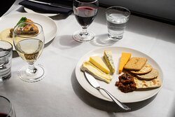 Selection of British Cheeses, served with crackers (gf available) and an apple and mustard chutney