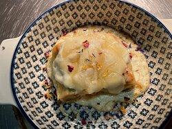 Lasagnette di verdure gratinate al formaggio di pecora
