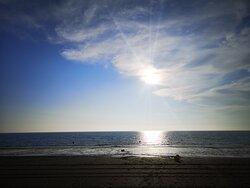 A 2km, la plage de Bréville sur Mer