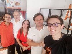 """da sinistra Antony, Beppe, Lara (io), Davide """"prima pagina"""" (eh eh), Federico ... e ne manca qualcuno!!!!"""