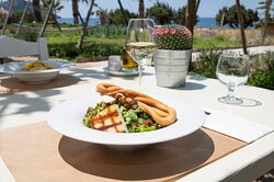 Starting from the love for the Messinian cuisine and guided by the constant renewal and the help of the invaluable treasures of the raw materials produced in the gardens of local producers, in Ammothines restaurant, we create dishes that combine tradition and modern gastronomy.