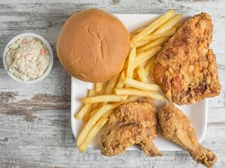 Broast  Chicken Combo  with Coleslaw French Fries & Bun