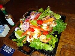 Porção de camarão.