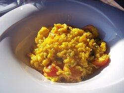 Saffron risotto