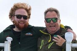 Captain Joe & cruise director Noah enjoying a great Puffin viewing & whale watching trip