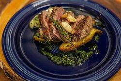 Cast Iron Seared Cap Steak