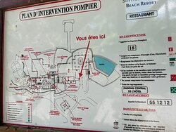 Map of the main restaurant/bar/pool area.