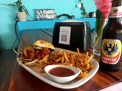 Thai Buffalo Chicken Sandwich All Natural Responsibly Sourced served with choice of Handcut Fries (served with our scratchmade ketchup) or Fresh Salad