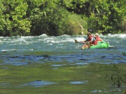 Bypassing the largest rapid to avoid flipping, this is a great Guided River Tubing Trip for thrill seekers and active families looking for excitement.