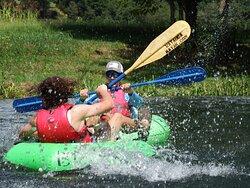 Splashing is part of tubing
