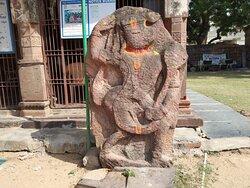Anjaneya Swamy in temple premises
