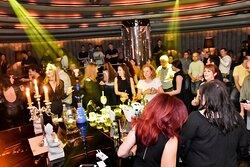 Bar at a busy night