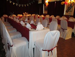 A function room with its own bar, stage , and dance floor perfect for parties of any size