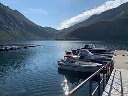 Bootssteg im Fjord (Juli 2021)