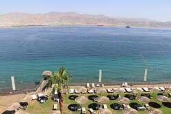 View from the Royal Suite balcony on the 6th floor at Aria Hotel Eilat