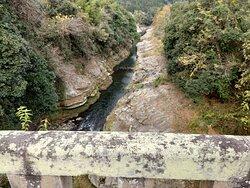 荒瀬橋上から見た恵良川
