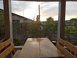 Outdoor dining area with a great view to garden