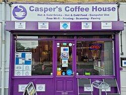 FRONT OF CASPER'S COFFEE HOUSE....