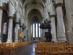 Brussels, Eglise Notre Dame du Sablon Church, nave
