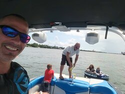 Family fun with our Capt guiding the way.
