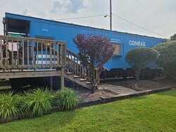 Our Train Car, #18 with deck and chairs outside