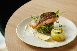 Holiday Inn Salmon with Fondant Potato