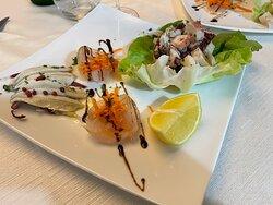 Cena tutta a base di pesce 🐟 presso il ristornante La Meridiana a Guardia Sanframondi (BN)